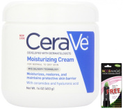 CeraVe Moisturising Cream, 470ml + FREE Moodmagic Colour Changing Lipstick, Perfect Pink, Green Carded