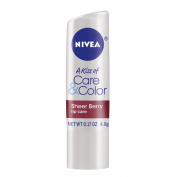 Nivea Lip Care A Kiss of Care and Colour Tinted Lip Balm Carded Stick, Berry