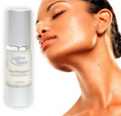 Face Whisperer® Neck & Decollete Cream with Argireline®, peptides for collagen, aloe, coconut oil & more! Look younger now!