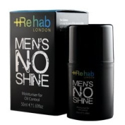 Rehab London Men's NO Shine Moisturiser for Oil Control 50ml