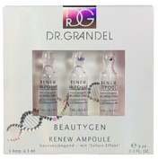 Dr. Grandel Beauty-gen Renew Ampoule 3x3 Ml. Slows the Ageing Process. Conceals Wrinkles and Irregularitie. Leaves the Skin Shine in New Splendour