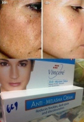 Vin 21 Anti Melasma Cream Reduces Dark Spots, Age Spots, Sun Spots, Pigmentation, Freckles 15 G. x 2 Tubes