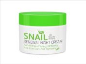Beauty Theory : Snail Renewal Night Cream 50ml , Anti - Wrinkle , Firming , Whitening , Heal Acne Scar , Pore Tightening , Premium product Made in Korea