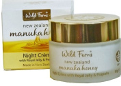Wild Ferns Gold Night Cream in Glass Jar with Royal Jelly and Propolis
