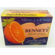 3 Pack Vitamin C & E Soap Bennett Natural Extracts Smooth Skin Within 2 Weeks ( by abobon )best sellers