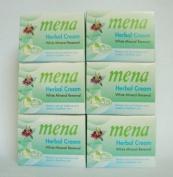 6pcs Mena Extra Whitening Anti-ageing Herbal Mineral Renewal Natural Cream 3g