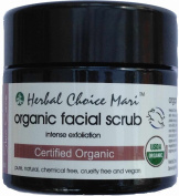 Herbal Choice Mari Organic Facial Scrub - Intense Exfoliation 125g130ml Jar