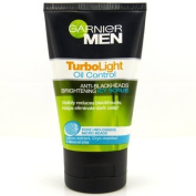 Garnier Face Cleanser for Men Turbolight Oil Control Anti - Blackheads Brightening Icy Scrub 100ml.