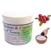 Bamboo & Cranberry Natural Foaming Facial Scrub