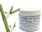 Bamboo & Rosehip Natural Foaming Facial Scrub