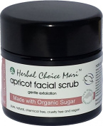 Herbal Choice Mari Apricot Facial Scrub m/w Organic - Gentle Exfoliation 125g/ 130ml Jar