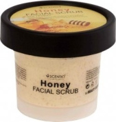 Scentio : Honey Softening Facial Scrub 100 ml. Product of Thailand