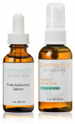 Hyaluronic Acid Serum and Vitamin C Facial Toner- Treatment Set