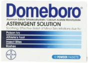 Domeboro Astringent Solution, one box of 12 packets