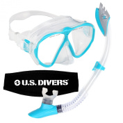 U.S. Divers Women's Phantom LX Mask and Palau Snorkel, Aqua