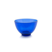 Flexible Rubber Mixing Bowl, Clear Blue (1 Pc)