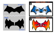 StencilEyes - Hero Mask - Hero/Villain Face Mask Design Stencil