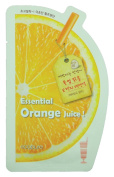 ECOPURE ESSENTIAL ORANGE JUICE TRIPLE LAYER FACIAL MASK (CONTAINS VITAMIN C & ORNAGE EXTRACT) - 10 SHEETS