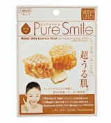 Pure Smile Royal Jelly Essence Mask, Vitamin E, Collagen and Hyaluronic Acid for All Skin Types 1 Sheet