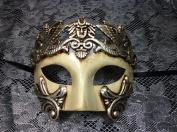 Unisex Men's and Women's Mask Greek Theatre Roman Warrior Greek Venetian Masquerade Mask Metallic Silver Mask