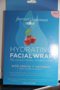 My Spa Life Forever Luminous Hydrating Facial Wrap (3 Facial Wraps) Wild Cherry + Collagen 70ml
