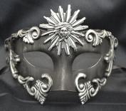 Mens Mythological Silver/black Sun God Greek Style Party Mask Mens Mythological Greek Style Party Mask Mardi Gras Majestic Party Halloween Ball Prom