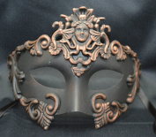 NEW Mens Mythological Bronze/black Madusa Greek Style Party Mask Mens Mythological Greek Style Party Mask Mardi Gras Party Halloween Ball Prom
