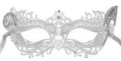 RedSkyTrader Womens Elegant Metal Laser Cut Party Mask