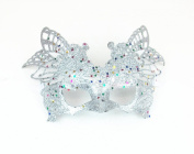 Bling Sparkle Mardi Gras Masquerade Half Mask Adjustable
