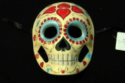 """Day of The Dead"" - Halloween Venetian Impression Mask Multiple Hearts Pattern Design"