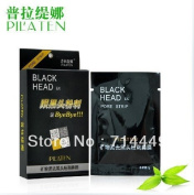 100pcs PILATEN Black mask face cleaner Tearing style Deep Cleansing Acne mask black heads remover black mud masks