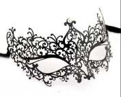 Black Elegant Luxury Beautiful Mask w/ Diamond Women's Mask Mardi Gras Majestic Party Halloween Ball Prom