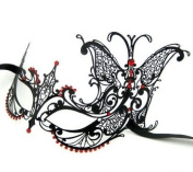 Black Extravagant Butterfly Mask Mardi Gras Masquerade Mask Majestic Party Halloween Ball Prom