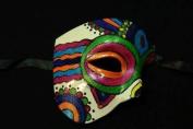 """Day of The Dead"" - Halloween Venetian Impression Half Mask Multi-Colour Design"