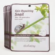 Elishacoy Skin Repairing Snail Eco Pure Pulp Mask Sheet 23g X 10 Sheets