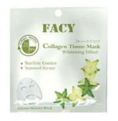 Facy Collagen Tissue Facial Mask Face Whitening Effect Intense Melanin Block Product of Thailand
