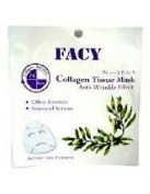 Facy Collagen Tissue Mask Anti-wrinkle Effect Olive Essence and Seaweed Serum