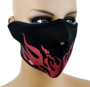 Flames Neoprene Motorcycle Riding Face Mask