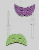 Mardi Gras Face Mask Pop Candy Mould