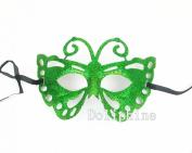 Multi-Colour Butterfly Sparkle Mardi Gras Masquerade Half Mask Adjustable