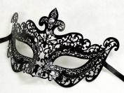 New Black Mystic Elegant Luxury Beautiful Mask w/ Diamond Women's Mask Mardi Gras Majestic Party Halloween Ball Prom