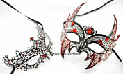 New Magical Couple Mask Laser Cut Venetian Halloween Masquerade Mask Costume Extravagant Inspire Design Lover Mask