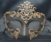NEW Mens Mythological Gold/black Madusa Greek Style Party Mask Mens Mythological Greek Style Party Mask Mardi Gras Party Halloween Ball Prom
