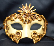 NEW Mens Mythological Special Gold Sun God Greek Style Party Mask Mens Mythological Greek Style Party Mask Mardi Gras Party Halloween Ball Prom