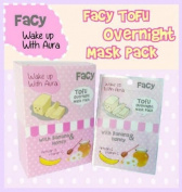 New!! (4) FACY Tofu Overnight Mask pack - With Arbutin Banana Honey Vitamin C 10ml