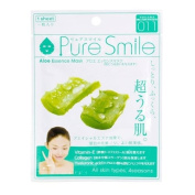 Pure Smile Aloe Essence Mask, Vitamin E, Collagen and Hyaluronic Acid for All Skin Types 1 Sheet