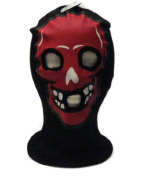 Red Skeleton Face Ski Mask Gothic Beanie Hat