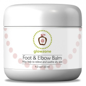 Glowzone Foot and Elbow Balm - Use As Foot Cream or Elbow Cream - Relieve and Soothe Dry Skin - Special Blend of Superior Ingredients - Shea Butter, Sweet Almond Oil, Peppermint Oil, Apricot Kernel Oil, Grape Seed Oil, Beeswax and Honey to Hydrate Dry ..