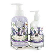 Michel Design Works Hand Care Soap/Lotion Caddy Set, Lavender Rosemary, 760ml