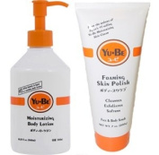 Yu-be Combo Deal Foaming Body Scrub And Moisturising Body Lotion